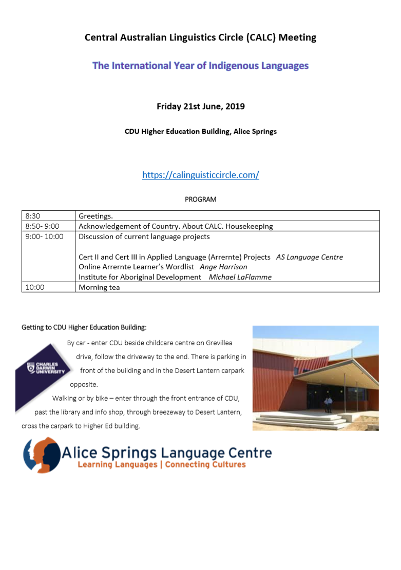 CALC Meeting 21st June