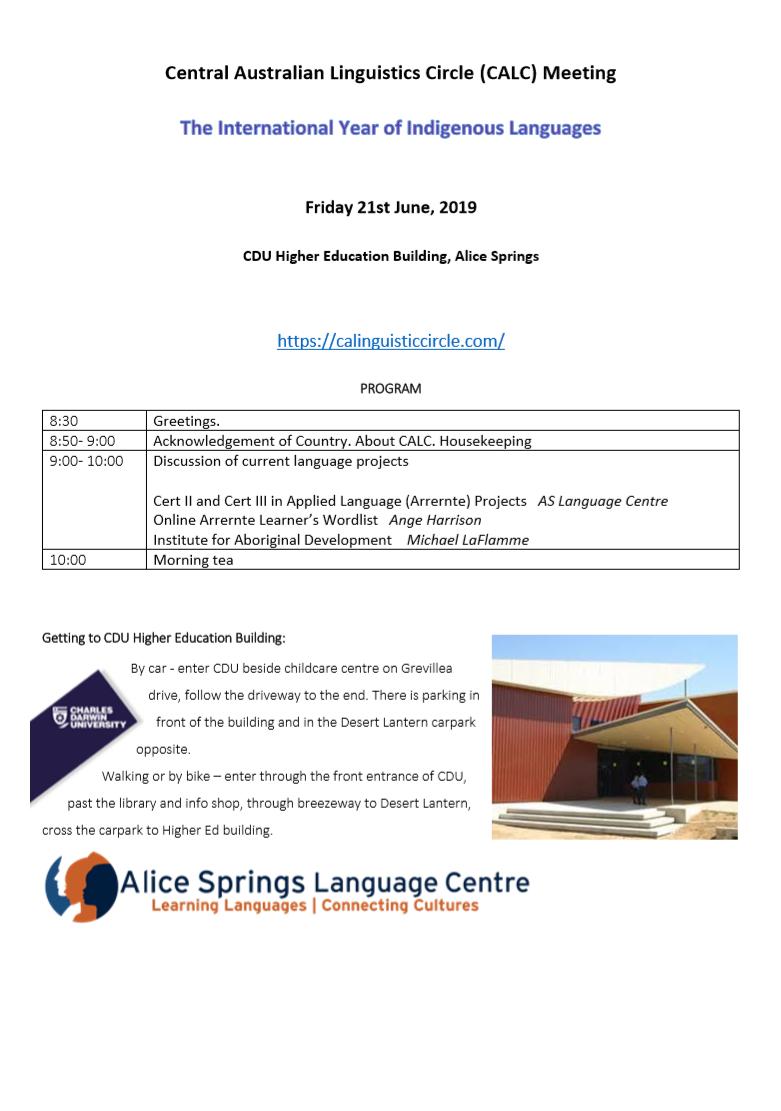 CALC Meeting 21st June